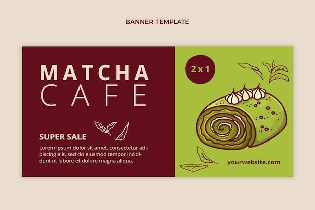 Modelo de banner de venda de alimentos em design plano