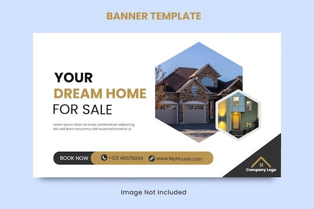 Modelo de banner de venda de casa imobiliária para mídia social
