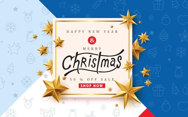 Modelo de banner de venda de feliz natal
