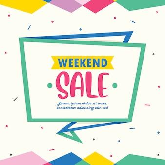 Modelo de banner de venda de fim de semana
