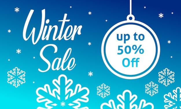 Modelo de banner de venda de inverno