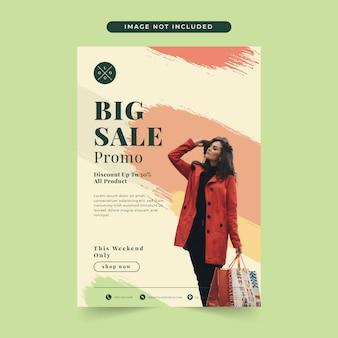 Modelo de banner de venda de moda elegante com foto