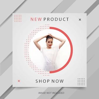 Modelo de banner de venda de moda minimalista