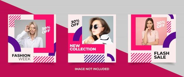 Modelo de banner de venda de moda promocional