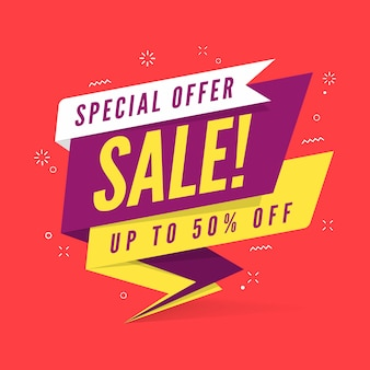 Modelo de banner de venda de oferta especial.