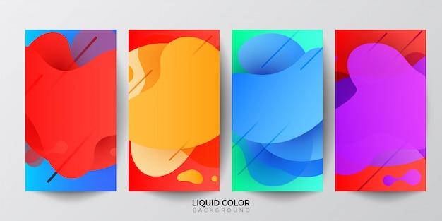 Modelo de banner de venda de ondas de gradiente líquido plástico