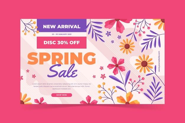 Modelo de banner de venda de primavera