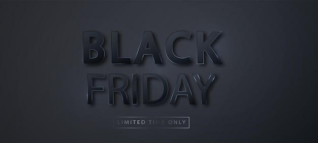 Modelo de banner de venda de sexta-feira negra. banner horizontal de promoção de venda para vendas na black friday. fundo do vetor.
