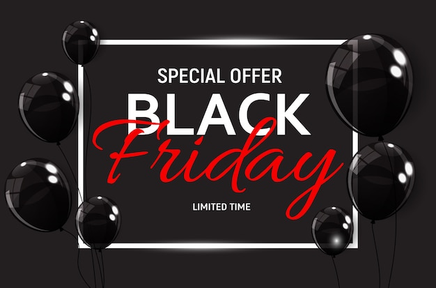 Modelo de banner de venda de sexta-feira negra