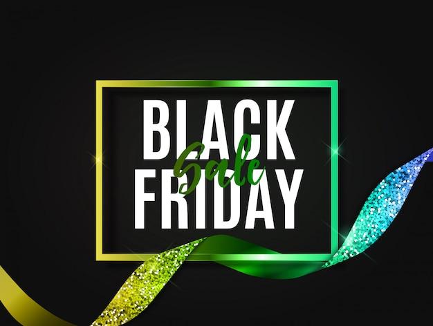 Modelo de banner de venda de sexta-feira negra.