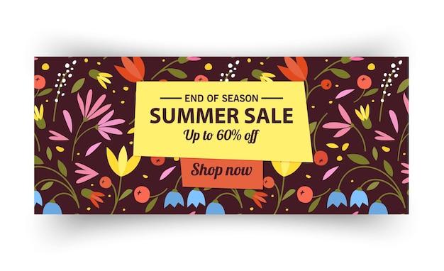 Modelo de banner de venda de verão promoção de verão