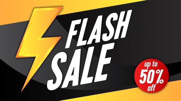 Modelo de banner de venda flash com trovão