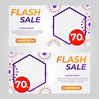 Modelo de banner de venda flash modelo de banner de promoção