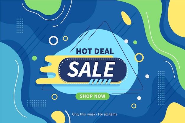 Modelo de banner de venda horizontal