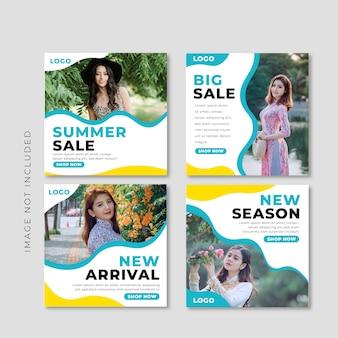 Modelo de banner de venda moderna para postagem no instagram