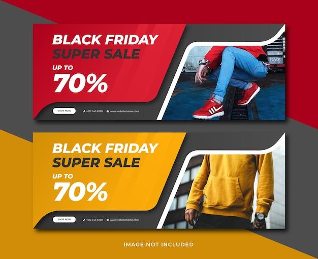 Modelo de banner de venda na sexta-feira negra