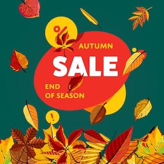 Modelo de banner de venda outono