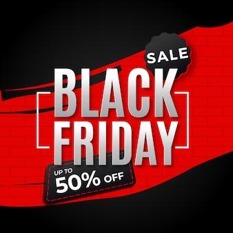 Modelo de banner de venda sexta-feira negra moderna
