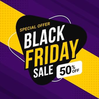 Modelo de banner de venda sexta-feira negra para promoção de negócios