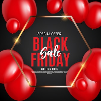 Modelo de banner de venda sexta-feira negra.