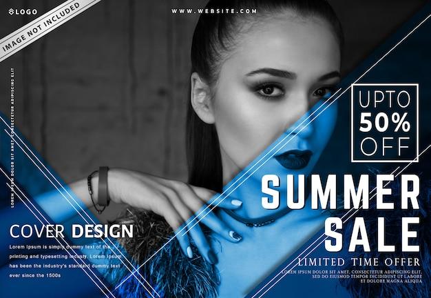 Modelo de banner de venda verão moderno