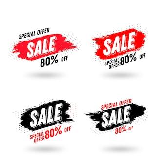 Modelo de banner de vendas de escova abstrata
