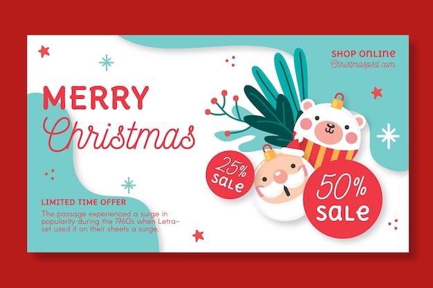 Modelo de banner de vendas de natal