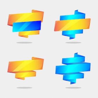 Modelo de banner de vendas no conceito de estilo origami
