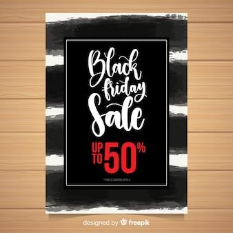 Modelo de banner de vendas preto sexta-feira