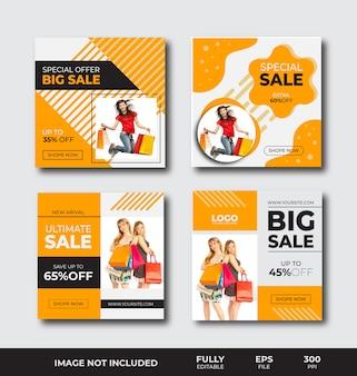 Modelo de banner de vendas
