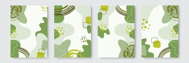 Modelo de banner de vetor de capa orgânica abstrata. plano de fundo mínimo no estilo boho, com espaço de cópia para o texto. capa desenhada à mão abstrata
