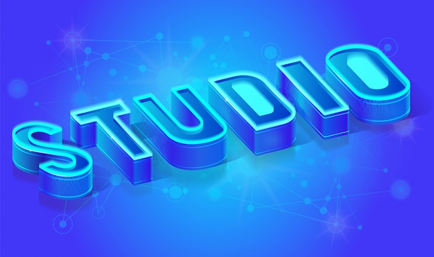 Modelo de banner de vetor isométrica de estúdio de internet