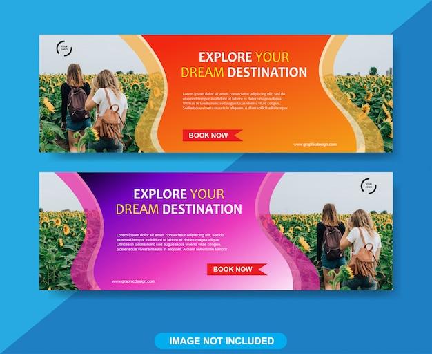 Modelo de banner de viagens