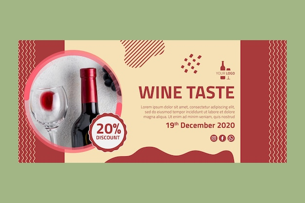 Modelo de banner de vinho
