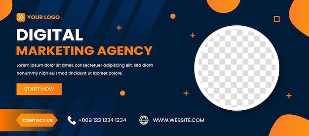 Modelo de banner de webinar de marketing digital