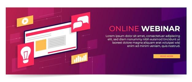 Modelo de banner de webinar