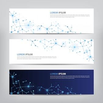 Modelo de banner definir tecnologia de design