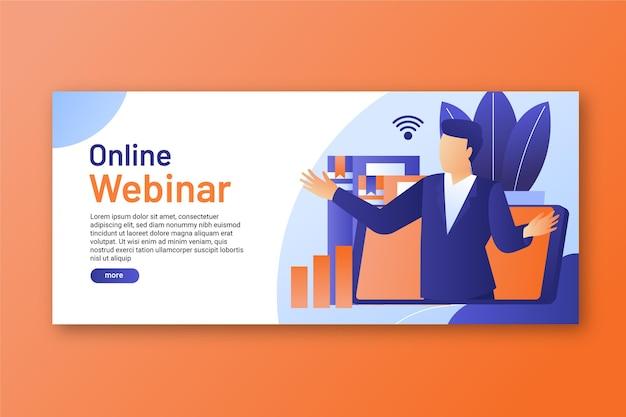 Modelo de banner digital de webinar