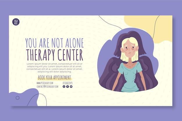 Modelo de banner do centro de terapia