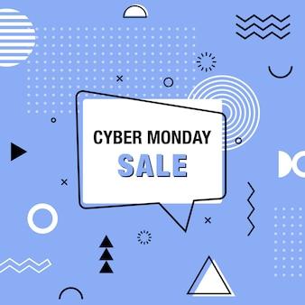 Modelo de banner do cyber segunda-feira