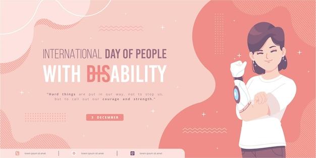 Modelo de banner do dia internacional da deficiência