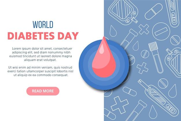 Modelo de banner do dia mundial da diabetes