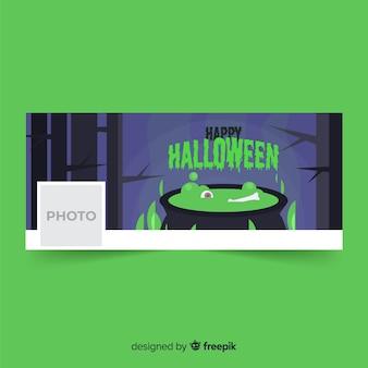 Modelo de banner do facebook de halloween