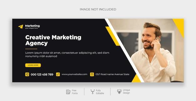 Modelo de banner do facebook de marketing digital grátis