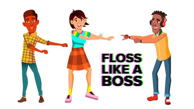 Modelo de banner do fio dental como chefe da web