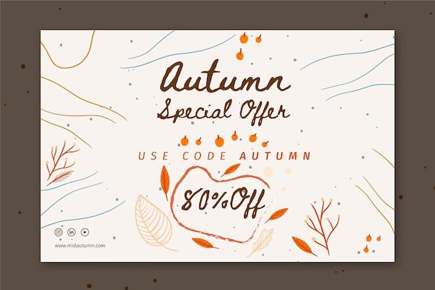 Modelo de banner do meio do outono