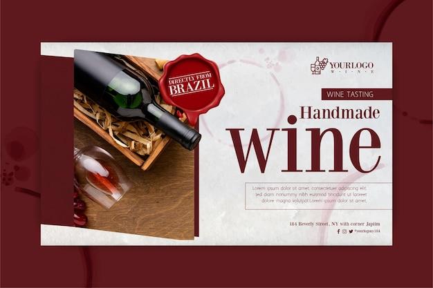 Modelo de banner do melhor evento de degustação de vinhos
