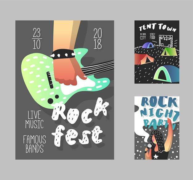 Modelo de banner do music fest
