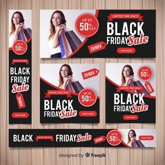 Modelo de banner do site de sexta-feira negra