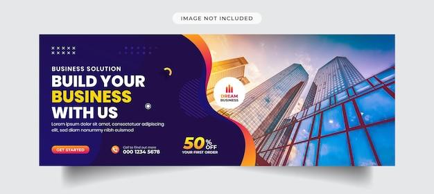 Modelo de banner e capa de marketing digital e mídia social corporativa